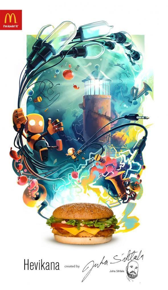 McDonald's: Hevikana print. Agency: DDB, Helsinki, Finland