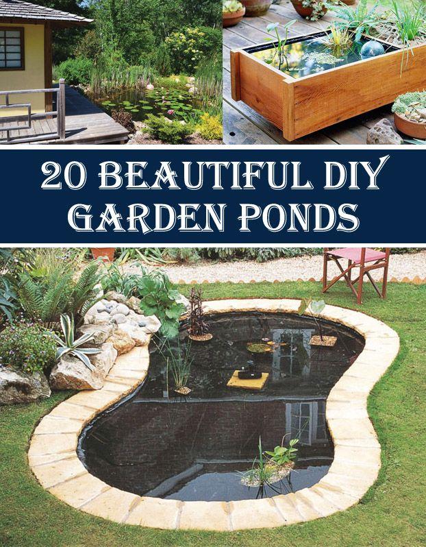 20 Beautiful DIY Garden Pond Ideas