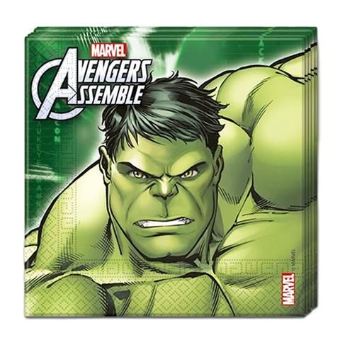 The Avengers Napkins - Pack Of 20