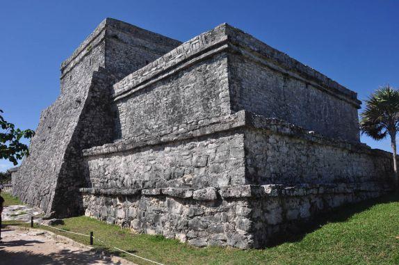 As impessionantes ruínas mayas de Tulum, em frente ao mar caribenho, na península do Yucatán, no México