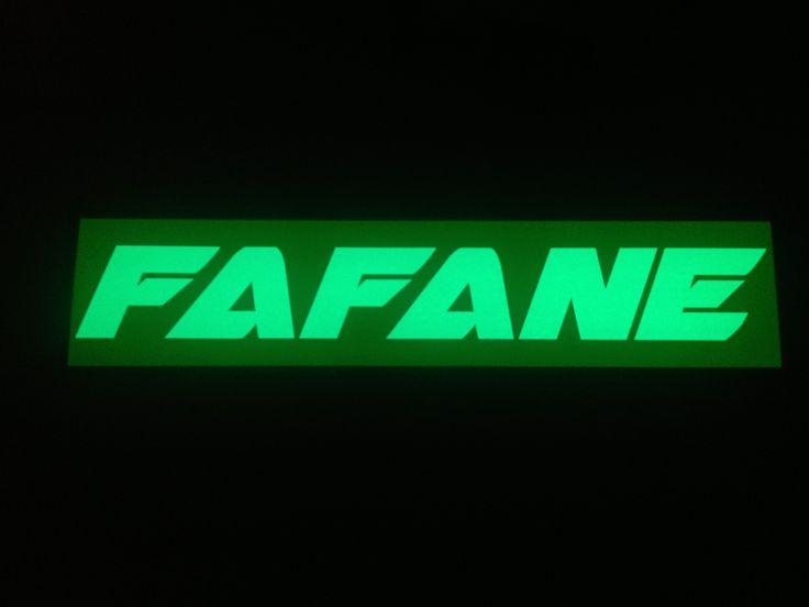 Plaque prénom camion Fafane