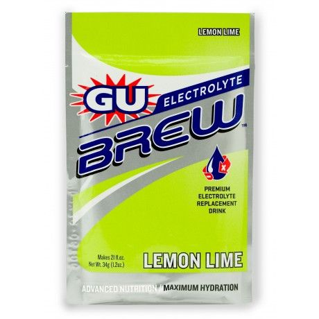 GU Electrolyte Brew is a scientifically formulated hydration solution which replaces all the good stuff you sweat out. GU Electrolyte Brew should be used in conjunction with GU or Roctane energy gel – not as a substitute.