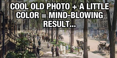 What Happens When Historic Black and White Pictures Are Restored in Color