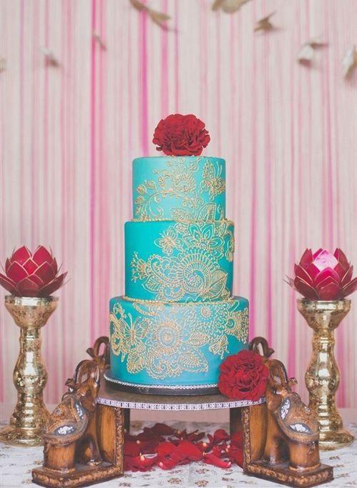 Indian #wedding cake, so beautiful