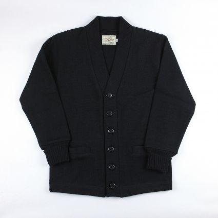 Dehen 1920 Classic Cardigan in Black