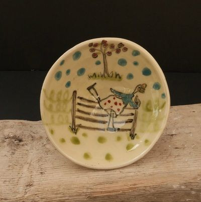 """""""a varied array of quirky pottery pieces"""" - Alison Alldis"""