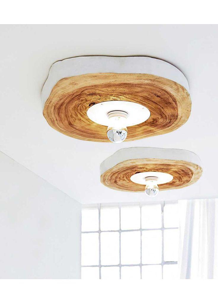 Deckenleuchte Holz Home Collection Weiss Braun
