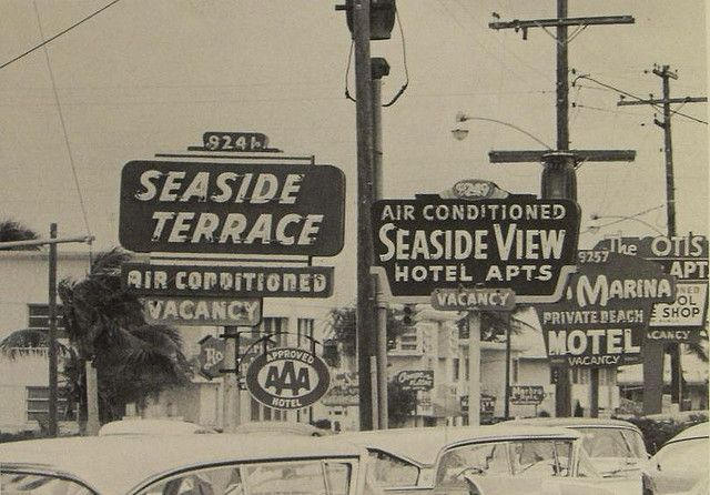seaside vintage | 1960s MIAMI BEACH Motel vintage photo seaside motels by Wallace Litwin ...