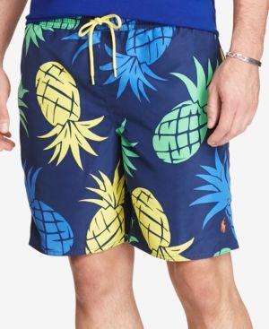 Polo Ralph Lauren Men's Big & Tall Printed Swim Trunks - Print 2LT