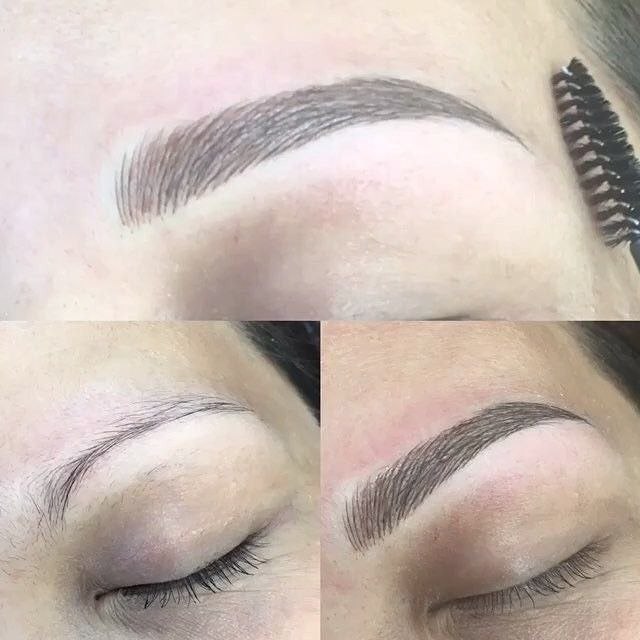 M I C R O B L A D I N G  What is microblading?  Microblading is s semi- permanent procedure (lasting up to 18 months) using a pen like blade that etches one mm beneath the skin form hairlike strokes. This will fill in reshape and strengthen the contour or the brow so needing less pencilling tweezing or coloring in. Pain? Very slightly.... about that of waxing.  If your eyebrows are uneven nonexistent or can barely be seen... this service is for you. Call 203-520-0310 to make an appointment…