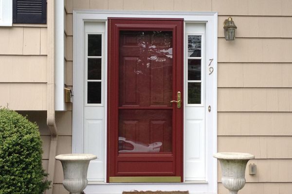 Replacement residential entry door with storm door for Entry door with storm door