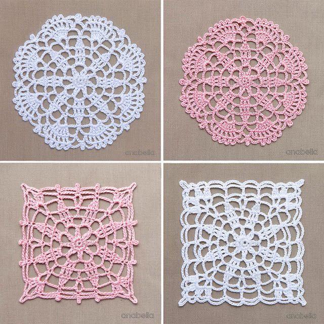 los encajes de ganchillo: motivos por los patrones libres Anabelia Craft Diseño