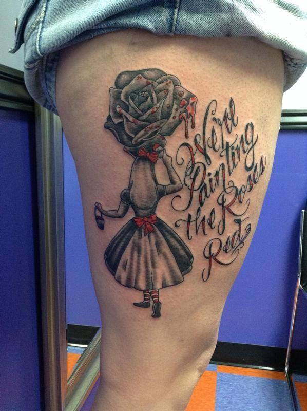 42 best Dark Horse Tattoos images on Pinterest Alice in