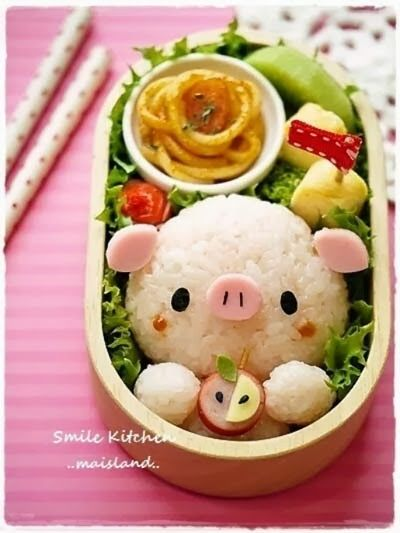 platos creativos para niños, kawaii, Mai's Smile Kitchen