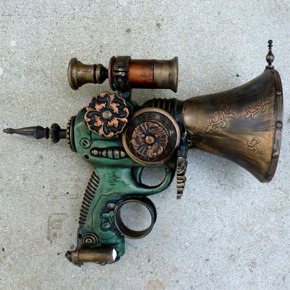 Steampunk pirate GUN---ZOMBIE killer - this is a fun one