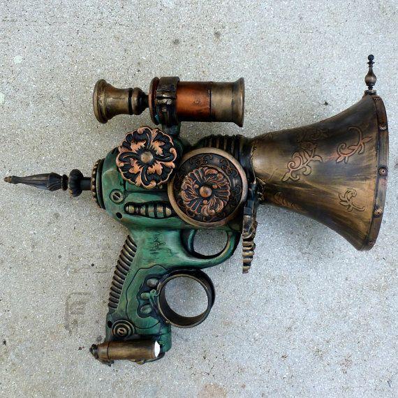 Steampunk cyber Victorian sci-fi pirate GUN---ZOMBIE killer