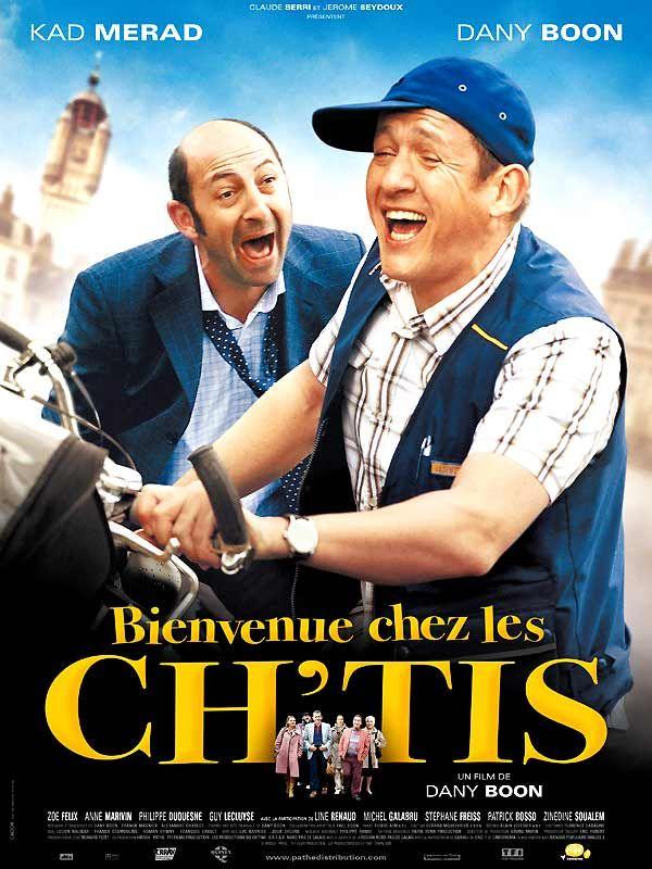 Bienvenue chez les Ch'tis est un film de Dany Boon avec Kad Merad, Dany Boon. Synopsis : Philippe Abrams est directeur de la poste de Salon-de-Provence. Il est marié à Julie, dont le caractère dépressif lui rend la vie impossible. Pour lui