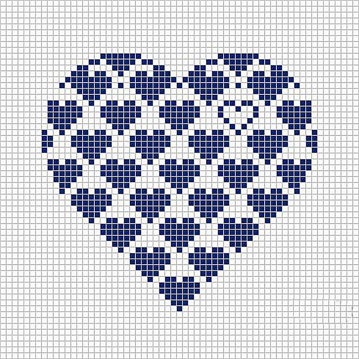 так схема узора сердечко картинка состоит том, что