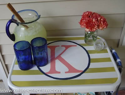 7/11 winner- Monogrammed bar cart from Keller-creative