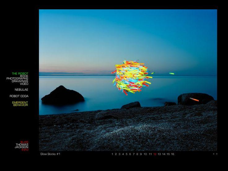 Thomas Jackson from his series Emergent Behavior Glow Sticks #1