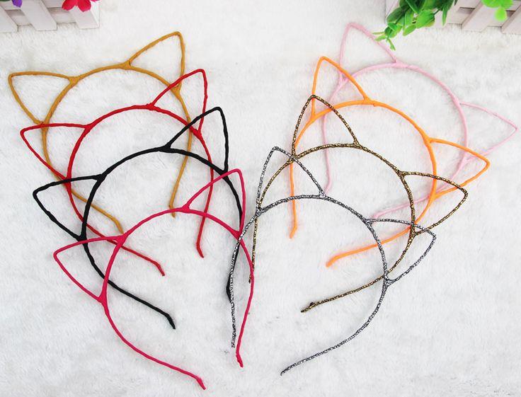 1 PCS Stylish Women Girls Cat Ears Headband Accessories  Hello Kitty Styling Tools Hair Braider Styling Accessories Tools