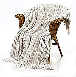 Knit Kit: Bobbled Tree Throw (Image1) from Lion Brand - love the textures