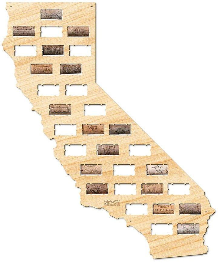 AFTER 5 California Wine Cork Map