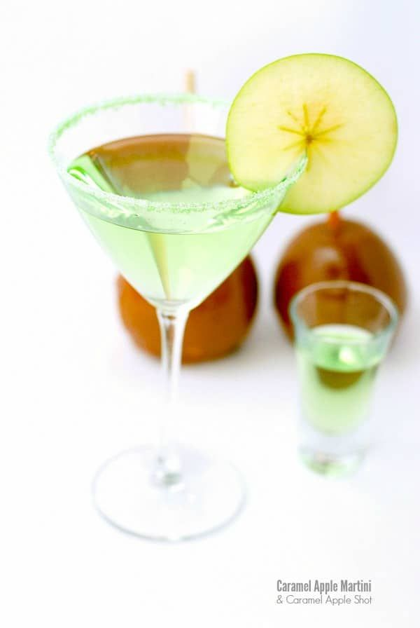 Caramel Apple Ice Cream, Caramel Apple Martini and Shot. Great for Halloween and fall!