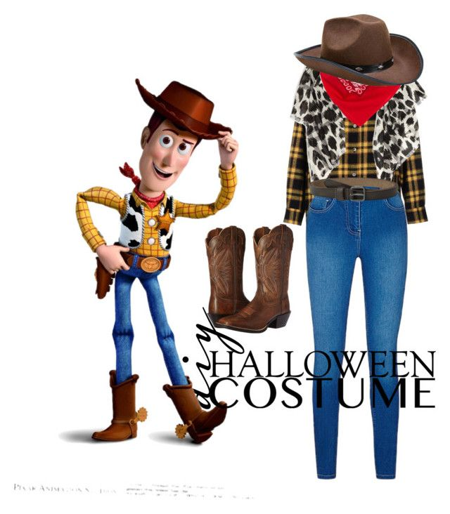 """""""Sheriff Woody"""" by k-tomlin ❤ liked on Polyvore featuring Department 5, Burberry, Ariat, COWBOYSBELT, halloweencostume and DIYHalloween"""