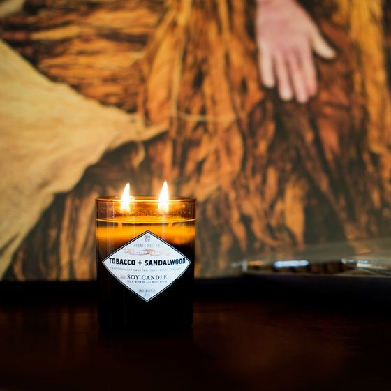 Tobacco + Sandalwood Candle Made in USA | Huckberry