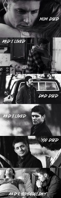 My feels. I should probably stop looking at sad Supernatural stuff while I'm at work