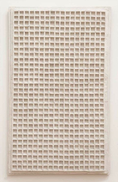 Jan Schoonhoven: R 61-3, 1961. Stedelijk Museum Amsterdam.