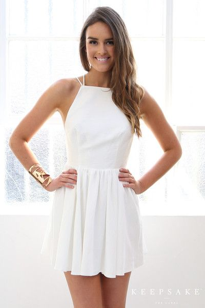 Esther Boutique - Keepsake More Than This Mini Dress - Ivory - $149.95