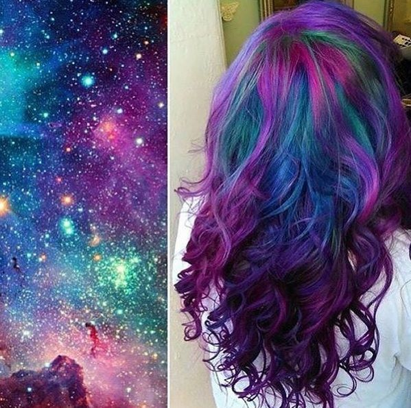 The Galaxy Hair Color Trend Is Out of This World
