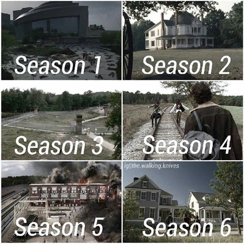 The Walking Dead Locations: Season 1-6, The CDC, The Farm, The Prison, Terminus, and Alexandria