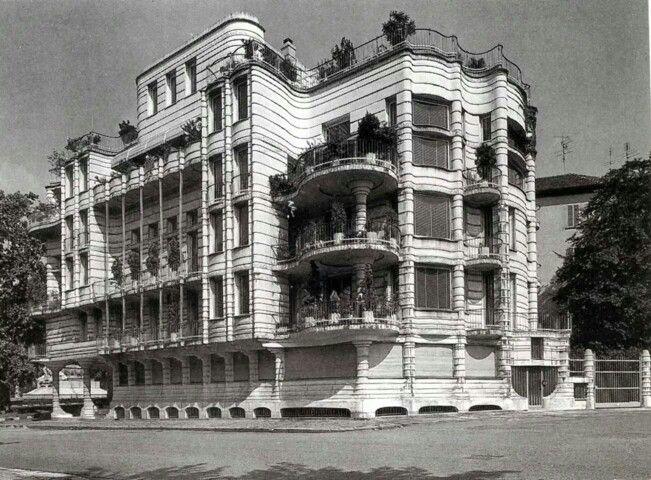1958 Palazzina in Piazza Crimea progetto architettonico Sergio Jaretti e Elio Luzi