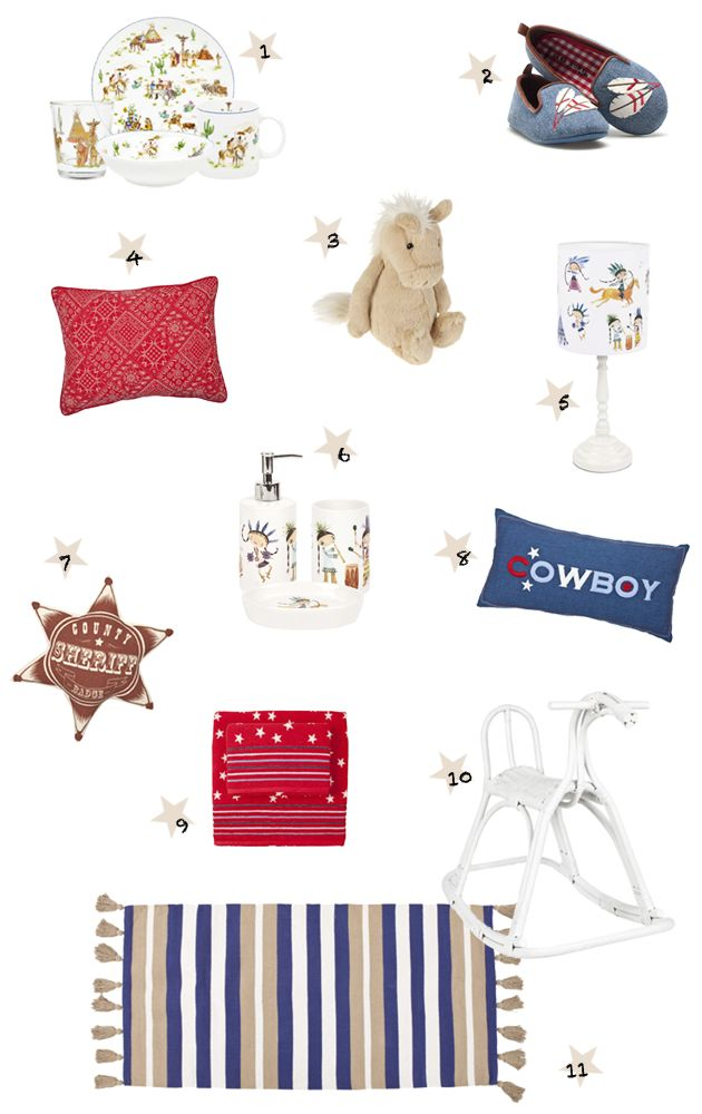 ChicDecó   Indians and Cowboys kids room, by Zara Home