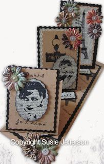 Beret Girld and Paris Plate stamps by me, for Blade RubberStamps