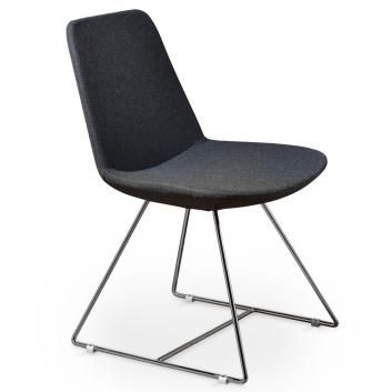 Paris Fabric Dining Chair in Charcoal