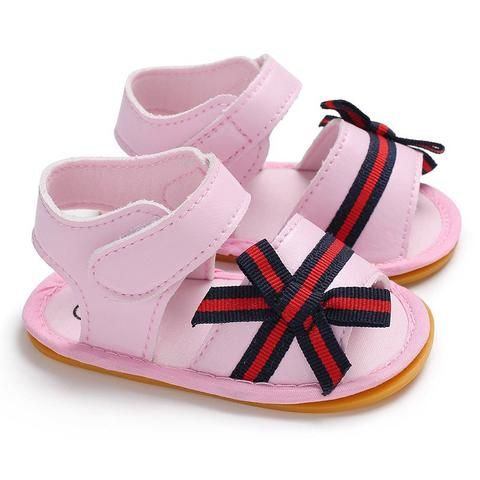 1b6749572cfd6 Raise Young PU Summer Baby Girl Sandals Rubber Soles Flower Infant Girl  First Walkers Newborn Toddler Shoes 0-18M