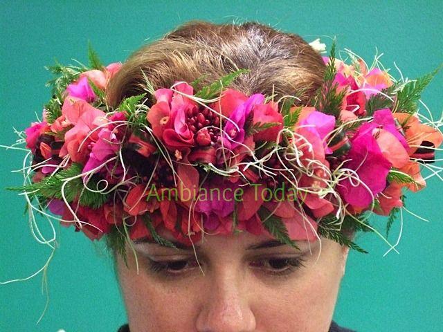 haku head lei of bouganvillea pele s hair spanish moss shinobu