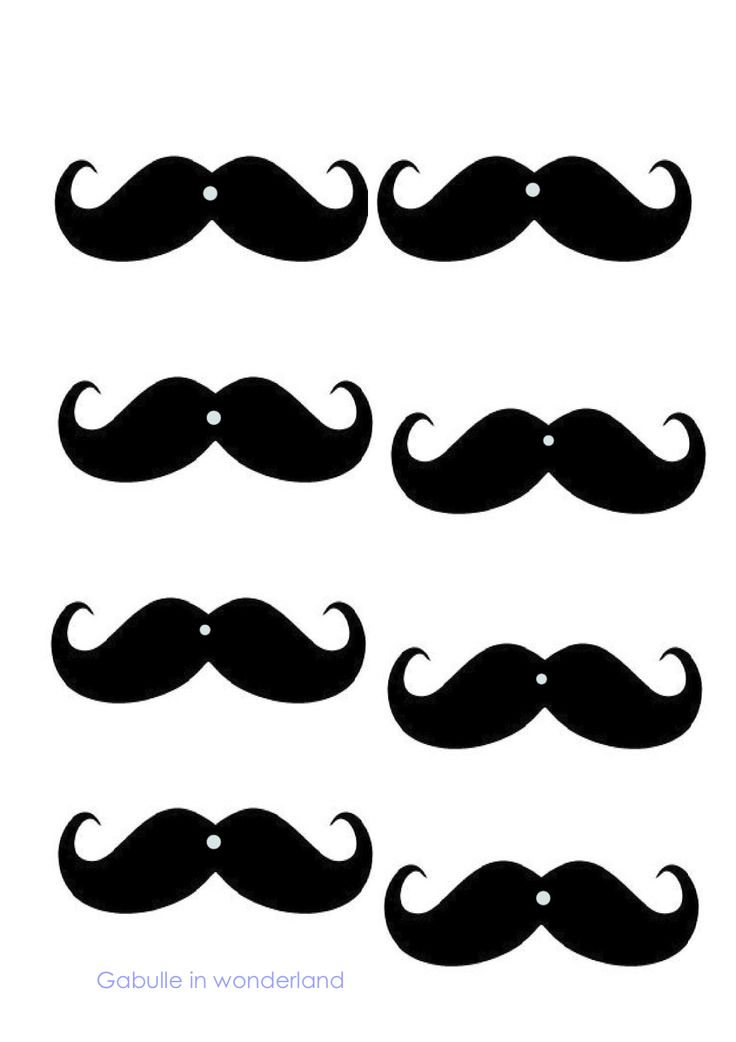 Gabulle in wonderland diy mustache straws tutorial and for Mustache print out template