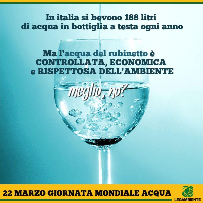 22 marzo Giornata Mondiale sull'Acqua www.legambiente.it
