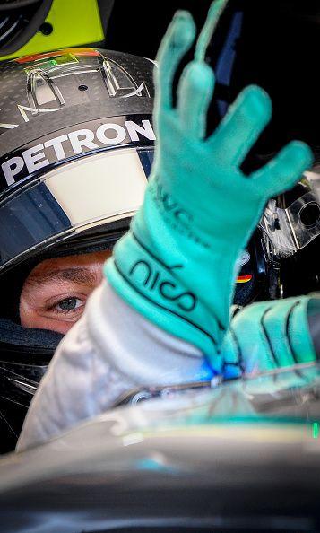 Mercedes AMG Petronas F1 Teams German driver Nico Rosberg gets ready in the…