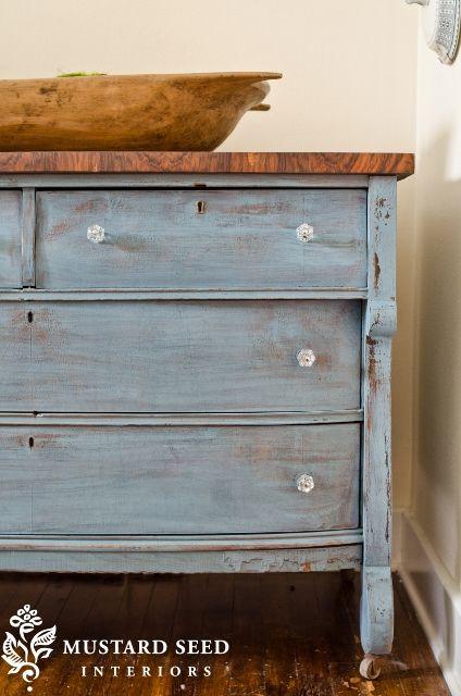 Miss Mustard Seed Milk Paint Dresser French Enamel Blue