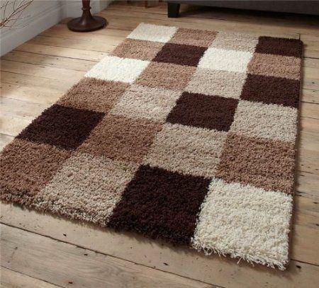 majesty beige brown rug - Shaggy Rug