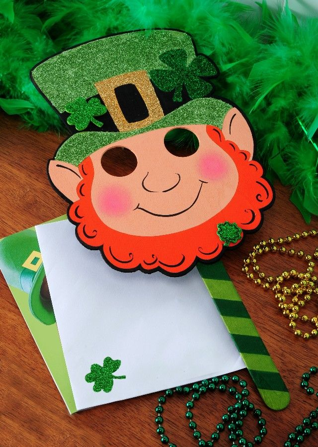 1000 images about masks on pinterest monkey mask for Leprechaun mask template
