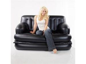 Reclining Sofa Smart Air Beds x EZ Queen Size Inflatable Sofa Bed Black
