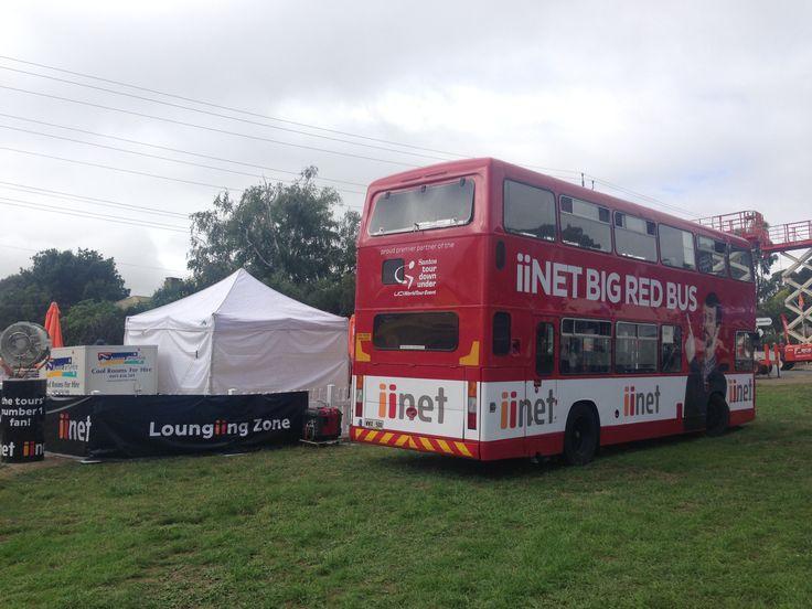 iinet Big Red Bus at the iinet Loungiing Zone - Bupa Challenge
