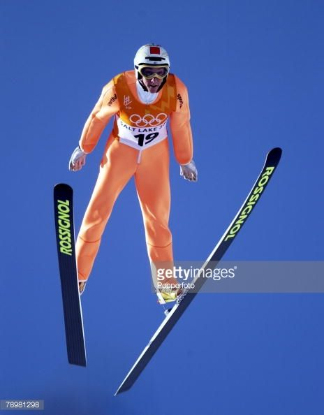 Sport Winter Olympic Games Salt Lake City Utah USA 13th February 2002 Ski Jumping Individual K120 Final Nicolas Dessum France